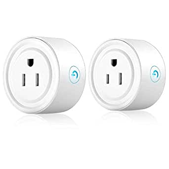 Wifi Smart Plug, Wi-Fi Smart House Devices Light Switch Power Outlet Timer Plug Compatible with Alexa Echo & Google Home Remote Control Through a Smart Phone From Anywhere Anytime ( 2 Pack )
