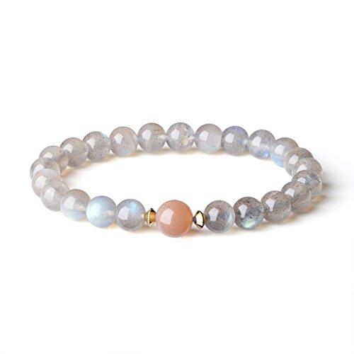 AmorWing Ladies Semi Precious Gemstone Labradorite Friendship Bracelet