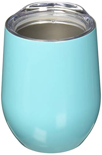 SWiG Double-Walled Vacuum Insulated Wine Tumbler, 12 Ounce, Ocean