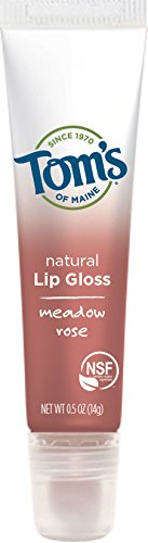 Tom's of Maine Natural Lip Gloss, Meadow Rose, 0.5 Ounce