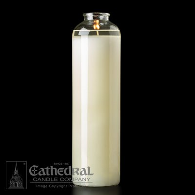 14 Day Glass Candle - Cathedral Candle Co. 14-Day Domus Christi Glass BT Sanctuary Light - Bottle Style - Box of 9