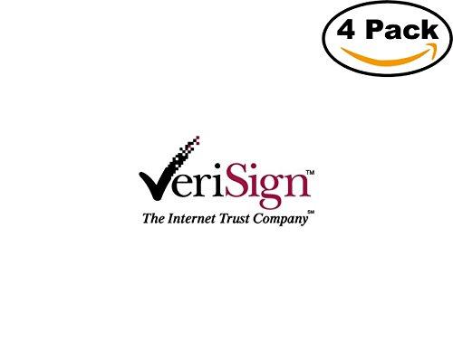 Verisign 4 Stickers 4X4 Inches Car Bumper Window Sticker Decal