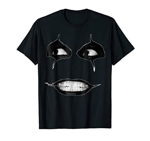 Creepy Face Mask Shirt Creepiest Halloween Costumes ()