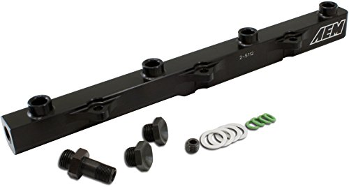 AEM 25-112BK High Volume Fuel Rail for Honda S2000 (Honda Injectors S2000)