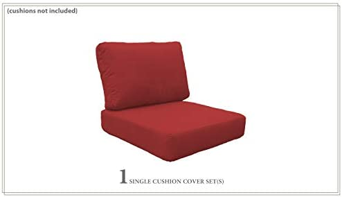 TK Classics Covers for High-Back Chair Cushions 6 inches Thick Terracotta