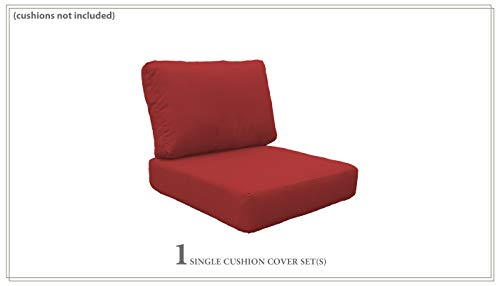 TK Classics Covers for High-Back Chair Cushions 6 inches Thick in Terracotta