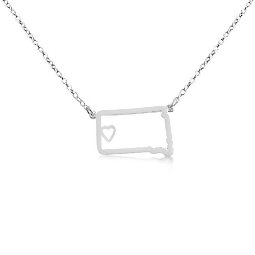 925-sterling-silver-small-south-dakota-home-is-where-the-heart-is-home-state-necklace-16-inches