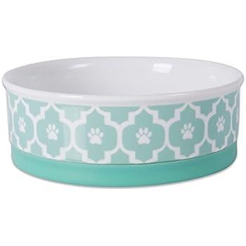 Amazon.com : DII Bone Dry Lattice Ceramic Pet Bowl for