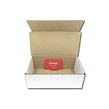 Pack de 50 Cajas de Cartón Automontables en Canal Simple y Color Blanco. Útiles para