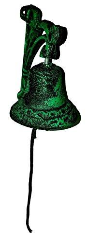 ountry Garden Bell (green & black patina) ()