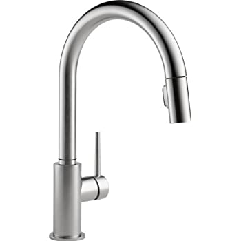 Delta Faucet DST Trinsic Pro Single Handle PullDown Kitchen - Amazon com delta faucet kitchen sink faucets kitchen faucets