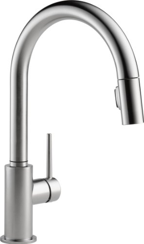 delta-faucet-9159-ar-dst-trinsic-single-handle-pull-down-kitchen-faucet-with-magnetic-docking-arctic