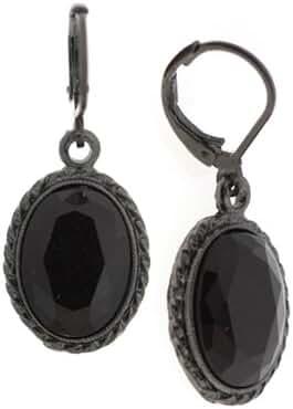 1928 Jewelry Bonne Nuit Oval Drop Earrings