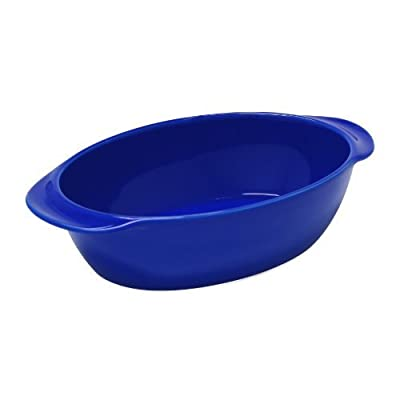 Chantal 93A-OV26T BI 10 by 7 by 2.75-Inch Oval Baking Dish, Small, Indigo Blue by Chantal