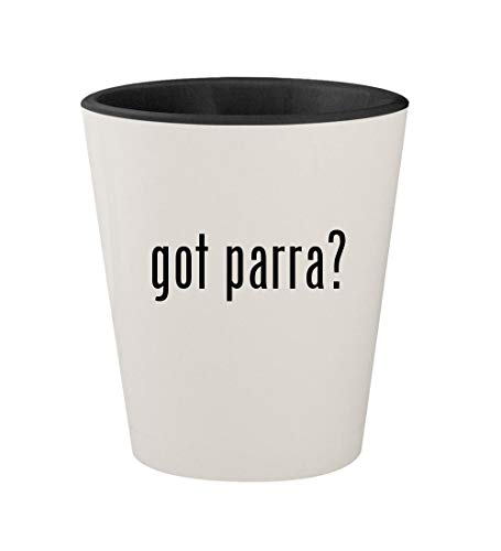 got parra? - Ceramic White Outer & Black Inner 1.5oz Shot - G Violet Shock