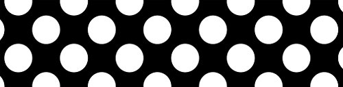 Schoolgirl Style Rolled Straight Borders, Black with Polka Dots (108333)