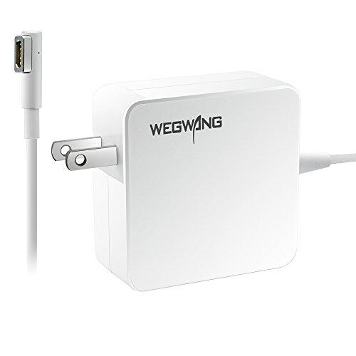 MacBook Pro Charger Upgraded Version, WEGWANG Power Adapter Replacement for Apple MacBook/MacBook Pro 13 inch, with No Spark, No Overheating and No Overcharging Technology Design (60W MagSafe 1 L-tip)