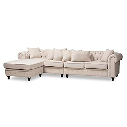 the best attitude 9d4a2 7d5ec Amazon.com: Baxton Studio Luisa Beige Upholstered ...