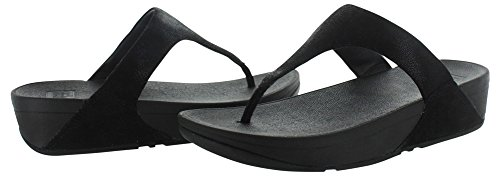 Sandales Fitflop Noir Glimmer Shimmy Suede Toe-Post