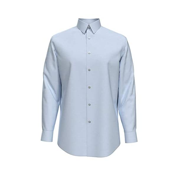 Fashion Shopping Calvin Klein Men's Dress Shirt Slim Fit Non-Iron Herringbone