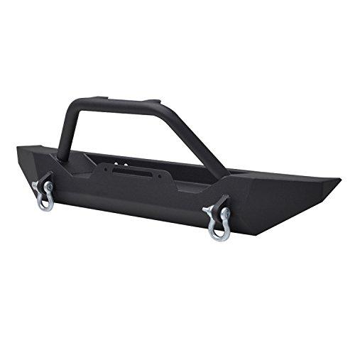 Paramount-Restyling-51-0051-Black-Front-Sport-Bumper-Jeep-Wrangler-TJ