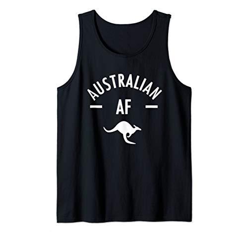 Australian AF Down Under Funny Australia Aussie Design Tank Top