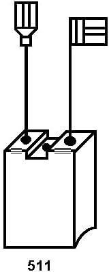 2.4x4.7x9.8 Avec arr/êt automatique 6,3x12,5x25mm Balais de Charbon pour BOSCH GBH 7-45 DE marteau