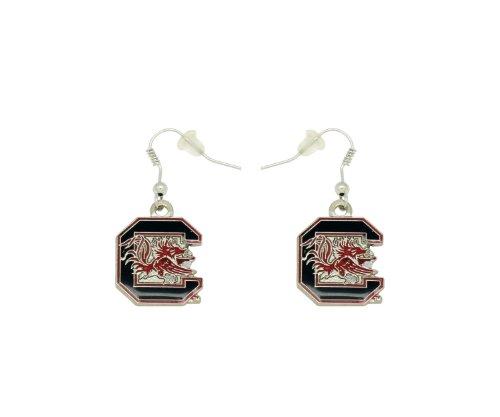 aminco NCAA Dangler Earrings, South Carolina Fighting - South Gamecocks Carolina Fashion