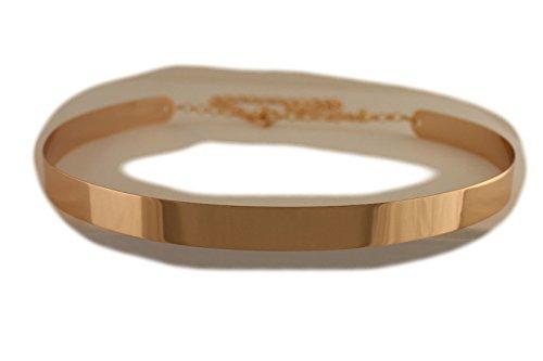 TFJ Women's Metal Chains Belt Hip High Waist Full Mirror Plate Size (Ladies Metal Chain Belt)