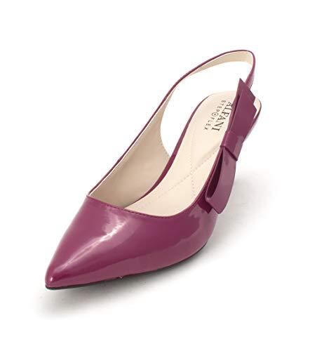 Alfani Womens Slingback - Alfani Womens Bennii Pointed Toe Slingback Classic Pumps, Orchid, Size 6.5