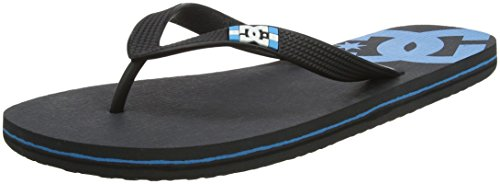 DC Men's Spray Flip Flops, Grey, 5 Grey (Grey/Blue/Black - Combo Xsbk)