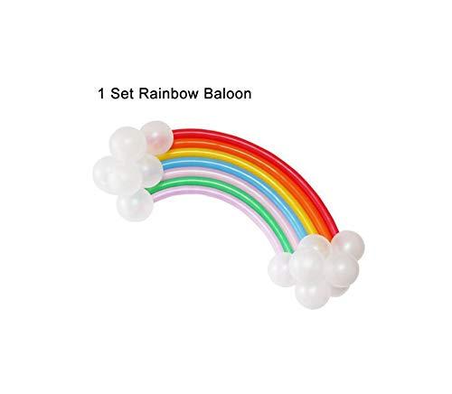 Balloons Latex Long Balloons Spiral Balloons Air Balloon Balloon For Modeling Birthday Wedding Party Decoration,1 set rainbow