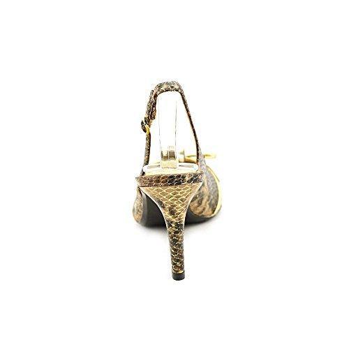 J.renee Dames Delray Pump Zwart / Bruin Metallic