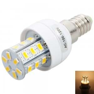 E14 4W 24LED SMD5730 3000-3500K ZM Warm White Corn Light (100-120V)