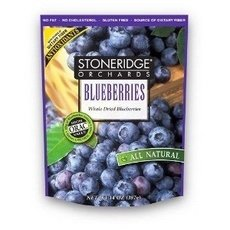 Stoneridge Orchards All Natural Whole Dried Blueberries, 4 Ounce - 6 per case. by Stoneridge Orchards