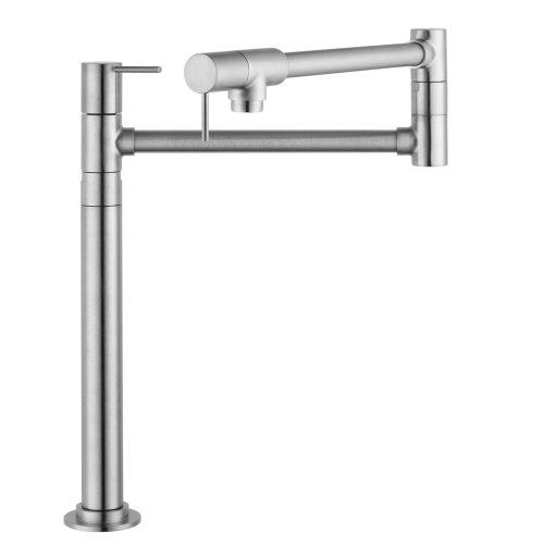 Hansgrohe 10860801 Starck Deck-Mounted Pot Filler, Steel Optik