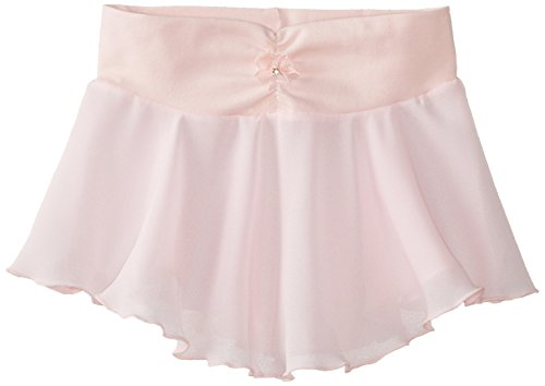 Capezio Little Girls' Pull-On Georgette Skirt, Pink, Small Capezio Dance Skirt
