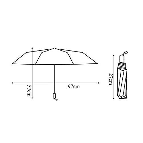 Doitsa 1pcs 3-Folding Parapluie Pliant Compact pour Femme Fille /Étudiant Motif de Canard Jaune Mode et Mignon Parapluie Anti-Ultraviolet