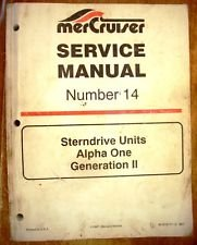 Mercury MerCruiser Service Manual Number 14 Sterndrive Units Alpha 1 Generation 2