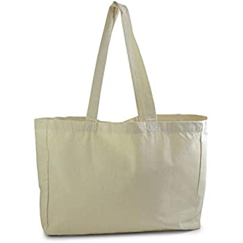 Amazon.com  Oversized Twill Cotton Tote Bag for Shopping (1 936080acc1f71
