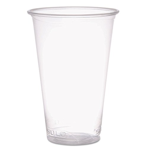 Reveal Plastic Cold Cups, 18 Oz, Clear, Flush Fill, 50/sleeve, 20 Sleeves/carton