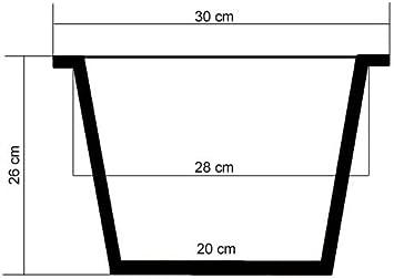 62 cm Casa Mina Wasserhyazinthe Blumenk/übel /Übert/öpfe Pflanzk/übel Blumentopf Tokio braun
