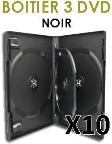 DVD Center - Caja para 3 DVD (10 unidades), color negro: Amazon.es ...