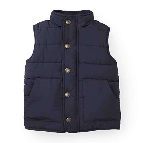 Hope & Henry Boys Navy Puffer Vest Made Recycled Polyester Fibers