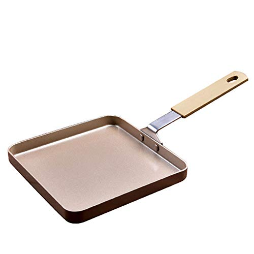 - Square crepe pan Nonstick, Grill Pan with heavy duty carbon Steel base Induction Compatible for baking cake, frying eggs, mini Cookware,Metallic