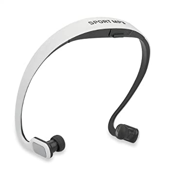 Cascos Auriculares Deporte Reproductor MP3 Inalámbrico Tarjeta TF FM Blanco: Amazon.es: Electrónica