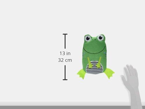 W/ärmflasche Frosch Velour gr/ün