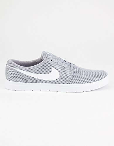Nike Mens Sb Portmore Ii Scarpe Da Skate Ultralight Lupo Grigio / Bianco