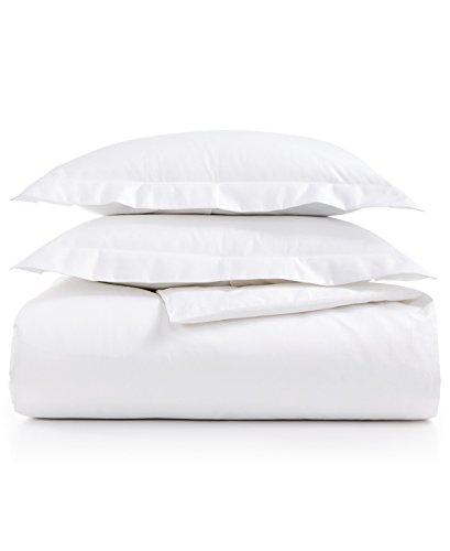 AQ Textiles Bergen Full/Queen 3-Pc Duvet Set, 1000 Thread Count White 100% Egyptian Cotton - Berg Bed Set