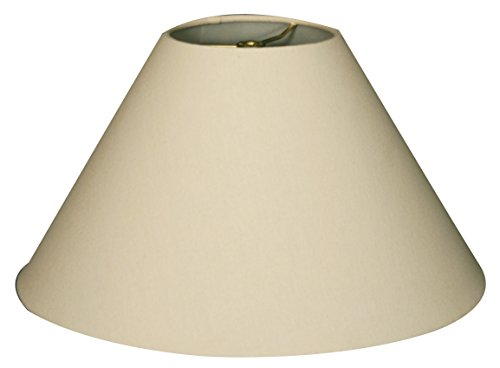 - Royal Designs Coolie Empire Hardback Lamp Shade, Linen Eggshell, 5 x 14 x 9.5